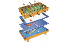 Многофункциональный игровой стол 4 в 1 (82х43х24 см, коричневый)